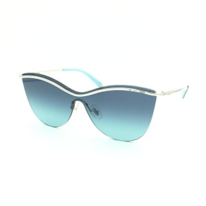 3ecdcce46923 Tiffany   Co. Black Mirrored Shield Butterfly Silver Rimless TF3058  Sunglasses