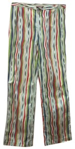Silx by August Silk Relaxed Pants Green/Red/Blue/White