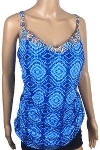 Bleu Rod Beattie Tie Dye Padded Tankini Top