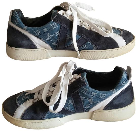Preload https://img-static.tradesy.com/item/23710160/louis-vuitton-rare-limited-edition-unisex-high-fashion-blue-denim-not-supreme-golf-beach-moon-walker-0-140-540-540.jpg
