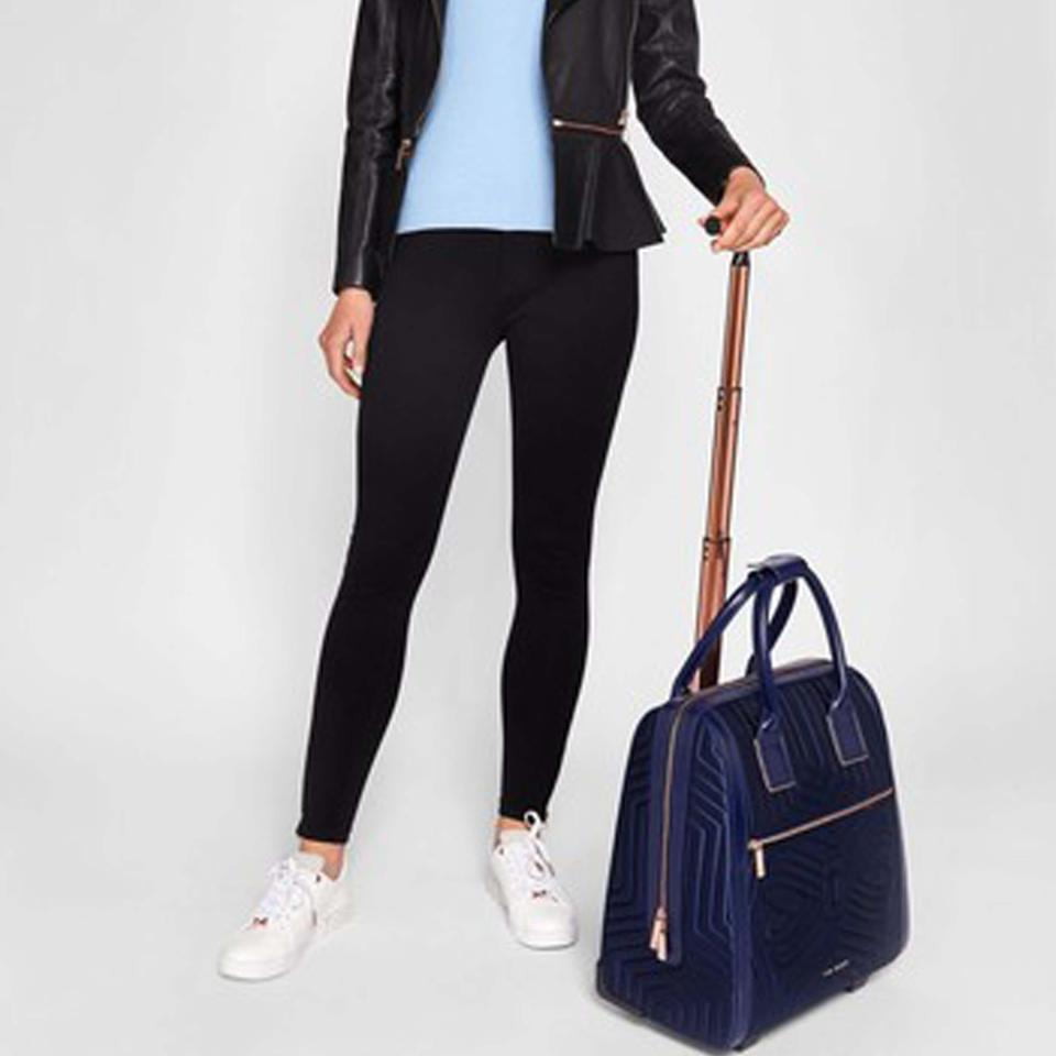 2c2ebc1e6cd58e Ted Baker Anisee Quilted Two Wheel Blue Synthetic Weekend Travel Bag ...