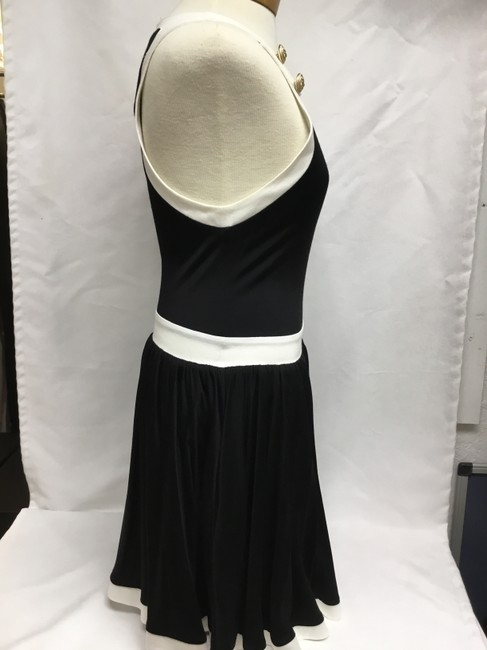 Balmain Black And White Sleeveless with Gold Buttons Short Casual Dress Size 4 (S) Balmain Black And White Sleeveless with Gold Buttons Short Casual Dress Size 4 (S) Image 3