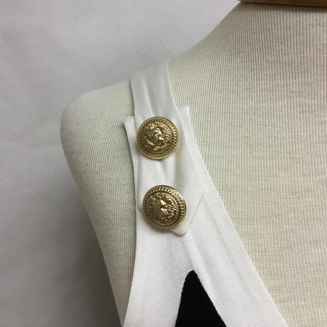 Balmain Black And White Sleeveless with Gold Buttons Short Casual Dress Size 4 (S) Balmain Black And White Sleeveless with Gold Buttons Short Casual Dress Size 4 (S) Image 7