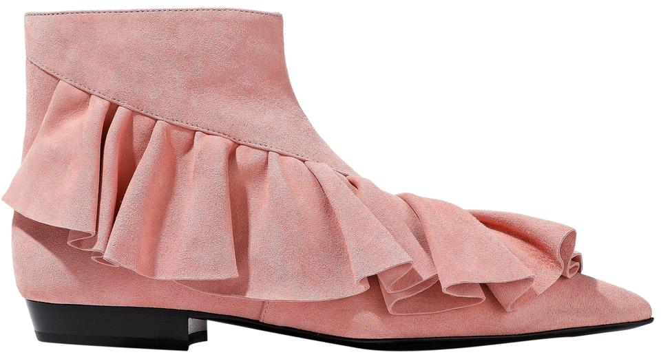 b4fe7e0a801 J.W.Anderson Pink Suede Ruffled Pointy Toe Ankle Boots/Booties Size EU 36  (Approx. US 6) Regular (M, B) 44% off retail