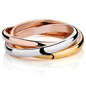 Cartier TRINITY RING, XS MODEL WHITE GOLD, YELLOW GOLD, PINK GOLD