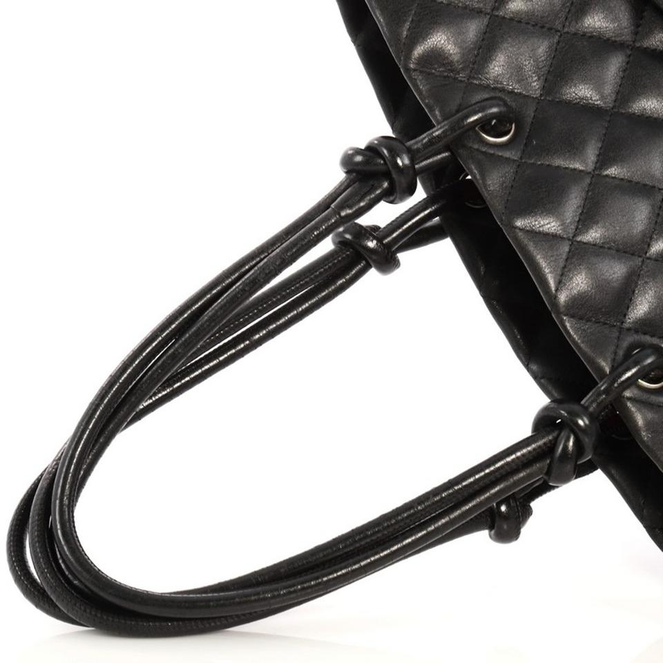 a87ebd00c310 Chanel Cambon Quilted Medium Black Leather Tote - Tradesy