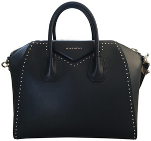 Givenchy Limited Edition Studded Leather Satchel in Black