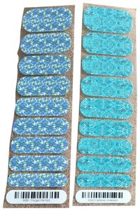 Jamberry 1K89 forget-me-not & A242 Caribbean snakeskin