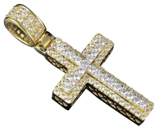 Preload https://item5.tradesy.com/images/jewelry-unlimited-10k-yellow-gold-two-tone-real-diamond-cross-pendant-150-ct-16-charm-23710594-0-1.jpg?width=440&height=440