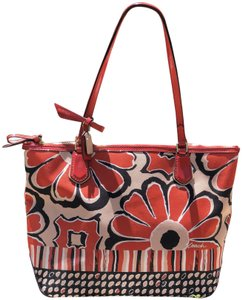 Coach Tote in Red Orange