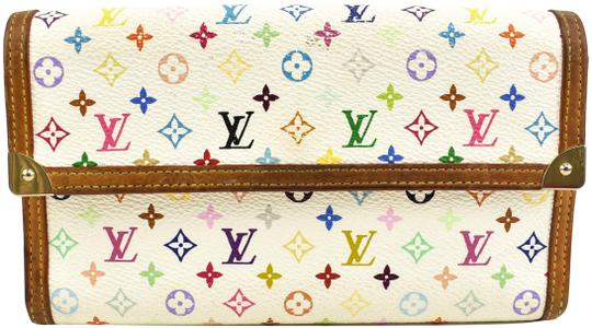 Preload https://item3.tradesy.com/images/louis-vuitton-white-murakami-logo-and-leather-continental-mo-wallet-23710672-0-1.jpg?width=440&height=440