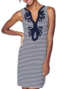 Lilly Pulitzer short dress Black and White Striped Bodycon Bold Stripe Summer on Tradesy