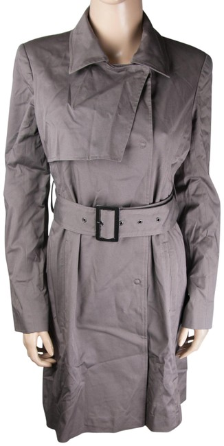 Item - Gray Belt Long Padded Coat Size 6 (S)