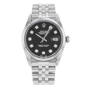 Rolex Rolex Datejust 16014 Custom Black Diamond Dial 1983 Watch