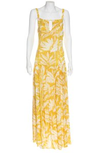 yellow Maxi Dress by Adriana Degreas