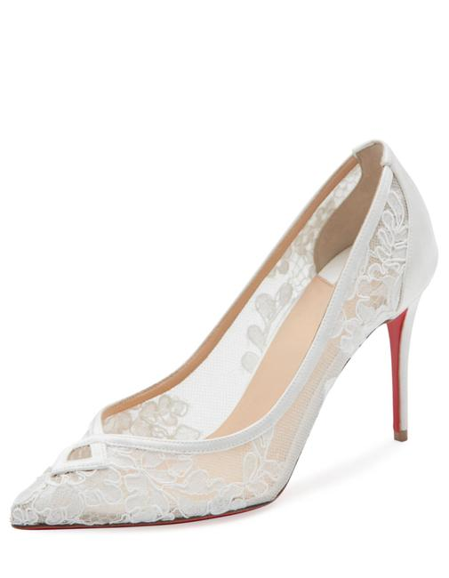 Item - White Neoalto Lace 85mm Red Sole Pumps Size US 10 Regular (M, B)