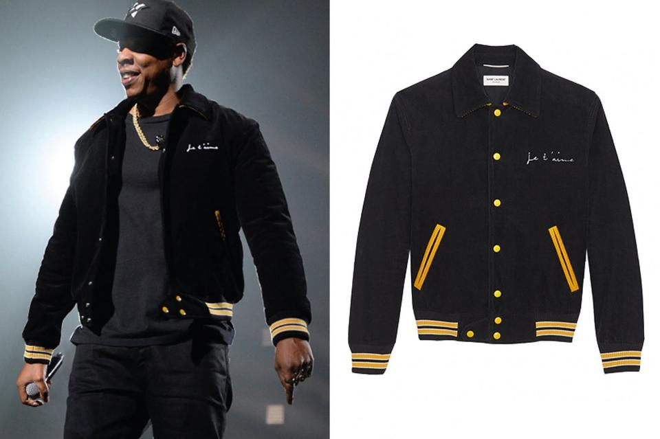 866ffabb Saint Laurent Ysl Yves Letterman Streetwear Bomber Black and Yellow Jacket  Image 10. 1234567891011