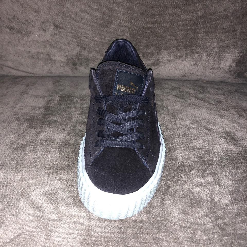 official photos f48e1 d4f3f FENTY PUMA by Rihanna Peacoat/Peacoat/Cool Blue Suede Creeper Sneakers Size  US 5.5 Regular (M, B) 35% off retail