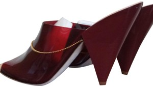 Lemaire Burgundy beige Mules