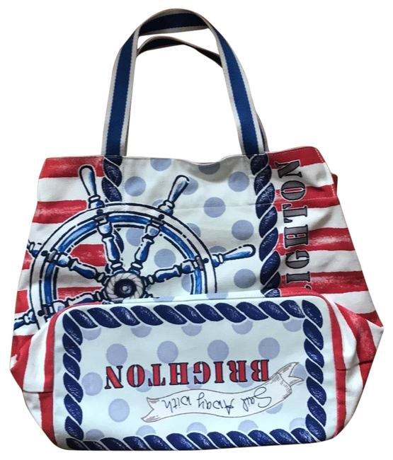 Item - Nautical Style By Red White and Blue Canvas Beach Bag