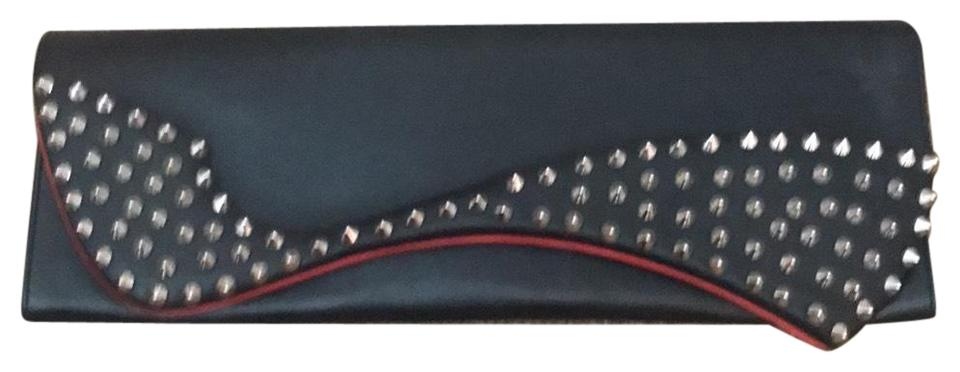 Louboutin Pigalle Louboutin Clutch Black Pigalle Christian Black Clutch Christian nUpwqxTWC