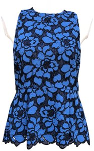 LIKELY Fully Lined Side Zipper Entry Lace Top Blue