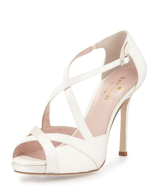 Item - Ivory Fensano Satin Strappy Sandal Formal Shoes Size US 10.5 Regular (M, B)
