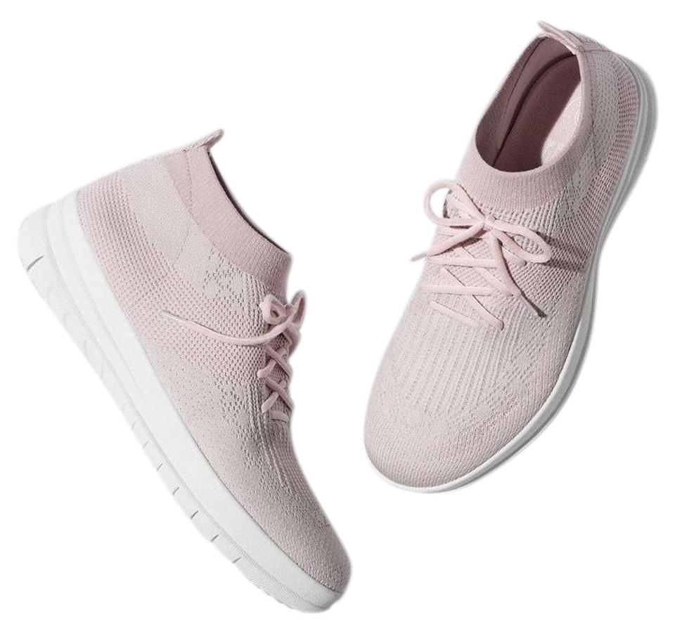 FitFlop Pink Textile Uberknit Slip On High-top Textile Pink Sneaker Sneakers 5574bb