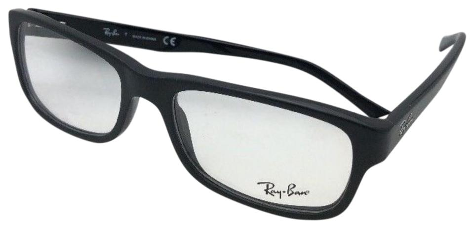 Ray-Ban New Rx-able Rb 5268 5119 55-18 Matte On Shiny Black Frames ...