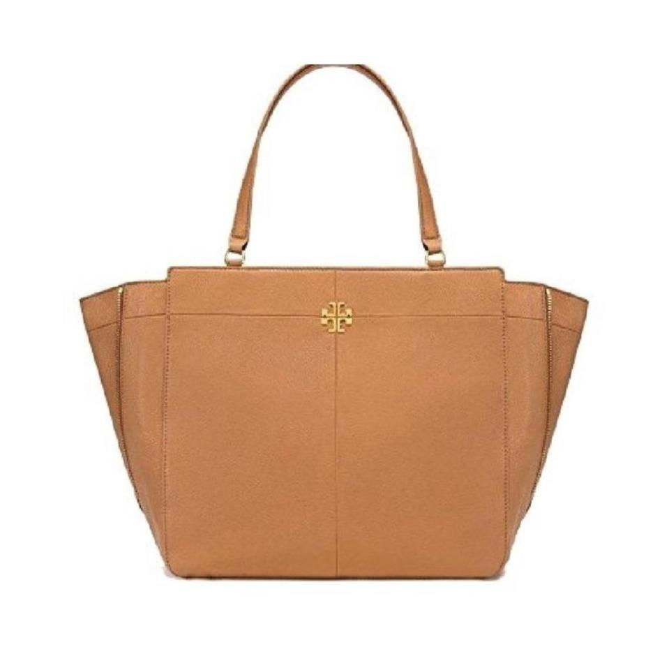 c10bc01cf347 Tory Burch Ivy Side- Zip Brown Leather Tote - Tradesy