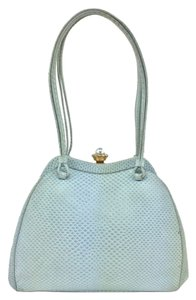 Judith Leiber Diamond Pearl Gold Hardware Tote in Baby Blue