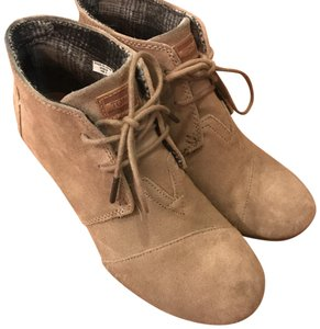 TOMS taupe/ khaki Boots