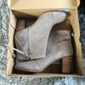 TOMS Taupe Lunata Suede Distressed Stacked Heel Ankle Boots/Booties Size US 12 Regular (M, B) TOMS Taupe Lunata Suede Distressed Stacked Heel Ankle Boots/Booties Size US 12 Regular (M, B) Image 5
