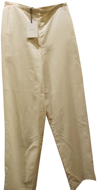 Item - Cream 38 Made In Italy Silk Light Pants Size 14 (L, 34)