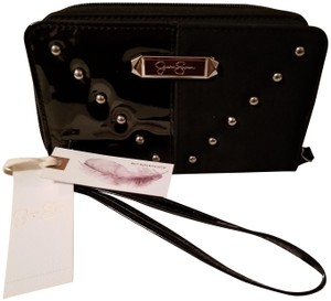Jessica Simpson STUDDED PATENT LEATHER WALLET/ WRISTLET