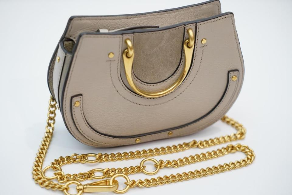 5b14e7cee692 Chloé Pixie Mini Convertible Belt Pastel Grey Leather and Suede Cross Body  Bag - Tradesy