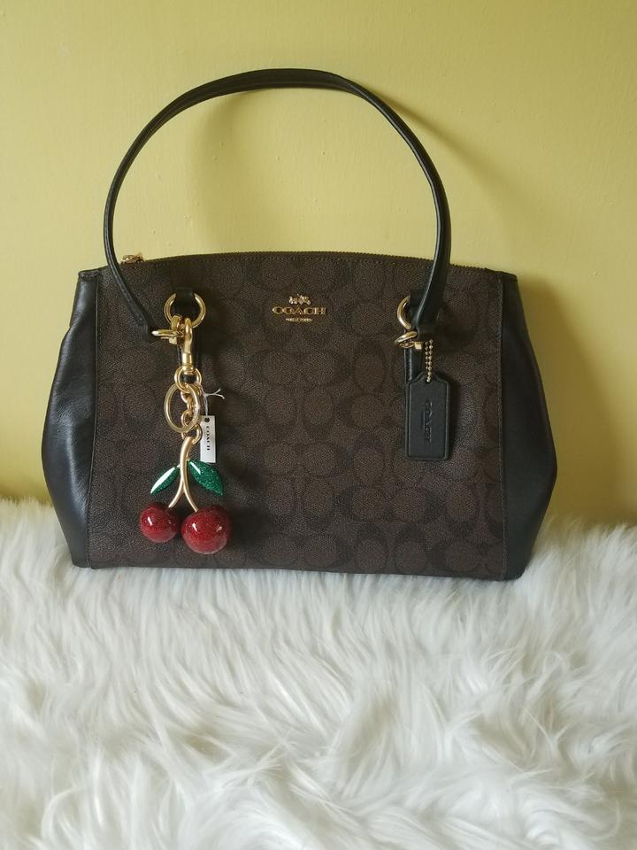 Coach Red Gold Glitter Cherries Bag Charm 33 Off Retail
