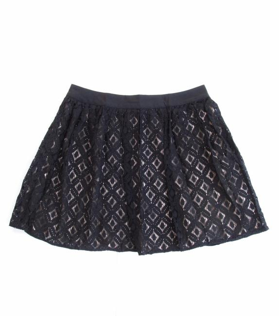 Garnet Hill Lace Short Pleated New Without Tags Full Mini Skirt Black, Tan Image 2