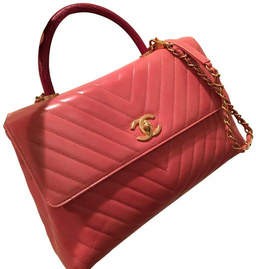 541985d32a3f Chanel Coco Handle - Flapbag with Handle Vea/Pink Pink Calfskin ...