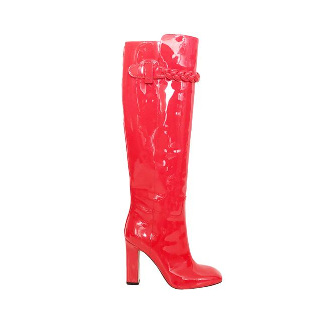 Item - Orange Tbc Braided Patent Leather Boots/Booties Size EU 37 (Approx. US 7) Regular (M, B)