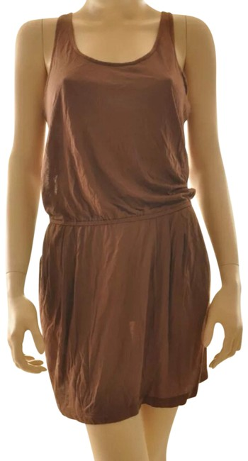 Item - Brown Sundress Beach Cover Up Pockets Short Casual Dress Size 4 (S)
