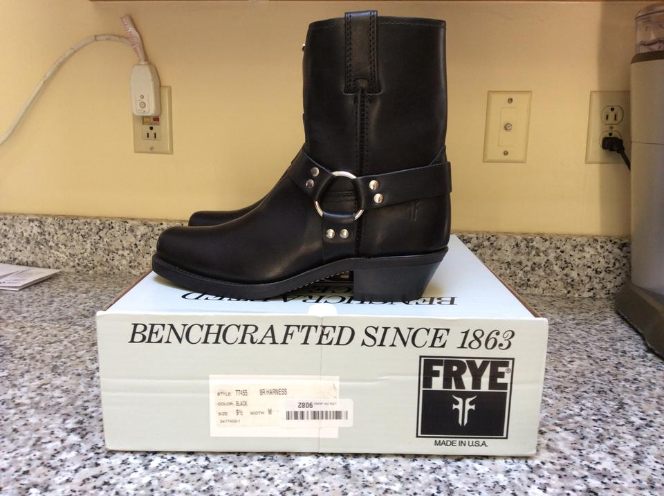 Frye Booties Boots Harness Black 8r fxnORf