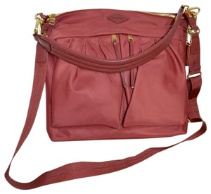 5015b8913afd MZ Wallace Abbey Dahlia and Gold Hardware Red Nylon Cross Body Bag ...