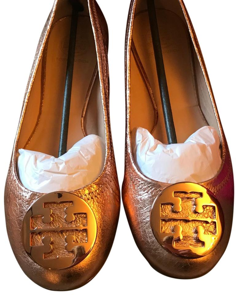 812fcd013 Tory Burch Rose Gold Reva Flats. Size  US 10.5 Regular (M ...