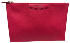 Givenchy Fully Lined Fuchsia Clutch
