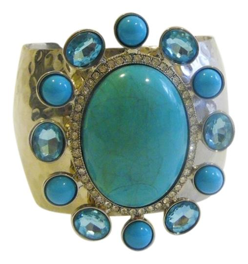 Preload https://item1.tradesy.com/images/dg2-by-diane-gilman-silvertone-big-and-bold-hammered-faux-turquoiseblue-topaz-adjustable-cuff-size-7-2371405-0-0.jpg?width=440&height=440