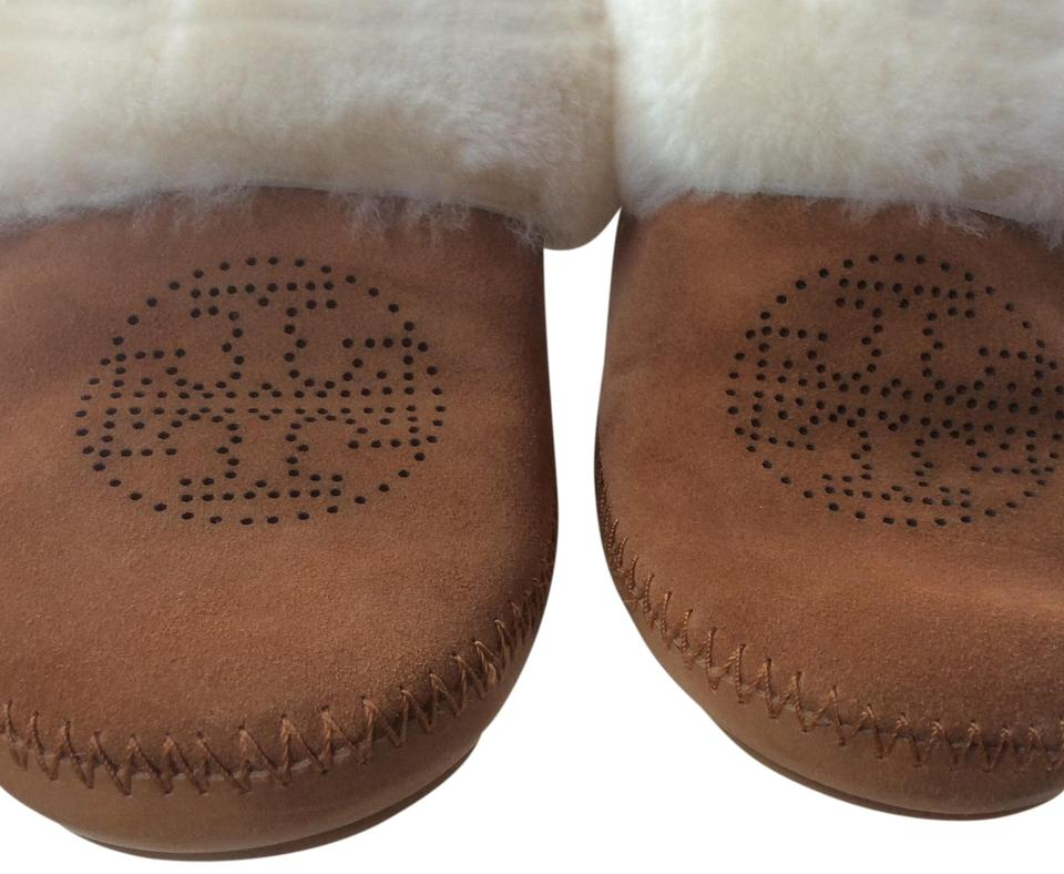 Tory Burch Slippers ***reduced 9/26*** Cinnamon Suede/Shearling Slippers Burch Flats 87e08f