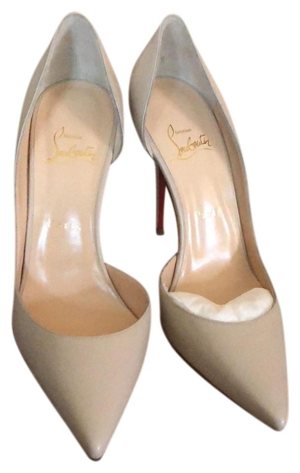 Christian Louboutin 100 Grey Iriza 100 Louboutin Kid Classic Pumps 6d6be6