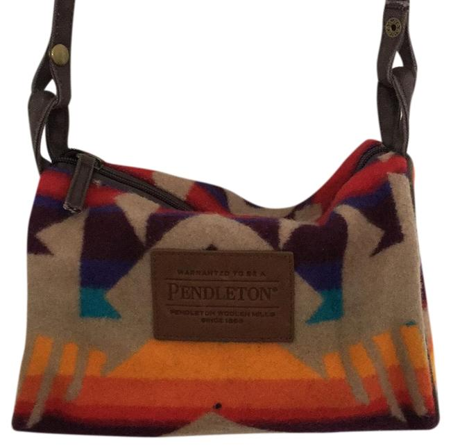 Item - Printed Multicolor Flannel Cross Body Bag