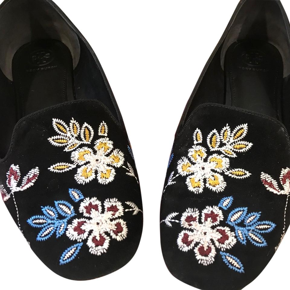 045a7803a74 Tory Burch Black Base Suede Smoking Slipper Flats Size US 9.5 ...